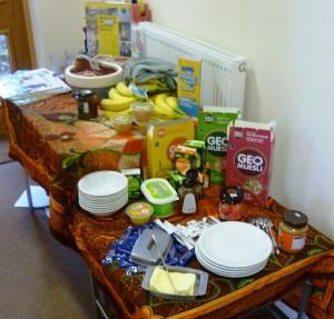 Arkholme Breakfast table